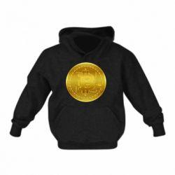 Дитяча толстовка Bitcoin coin