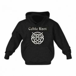 Дитяча толстовка Celtic knot black and white