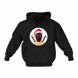 Детская толстовка Deadpool in New Year's hat