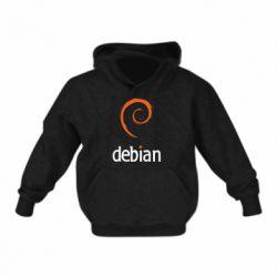 Детская толстовка на флисе Debian