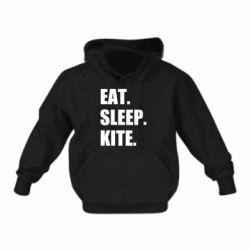 Дитяча толстовка Eat, sleep, kite