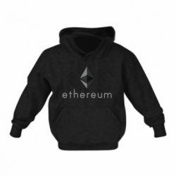 Детская толстовка Ethereum