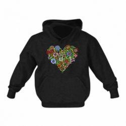 Детская толстовки Flower heart - FatLine