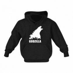 Детская толстовки Godzilla and city - FatLine