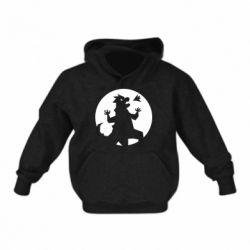 Детская толстовка Godzilla and moon