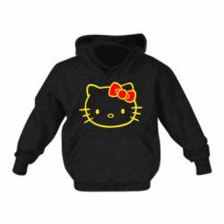 Детская толстовка на флисе Hello Kitty logo