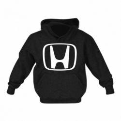 Детская толстовка на флисе Honda Logo