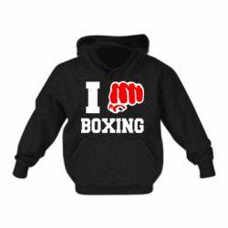 Детская толстовка на флисе I love boxing