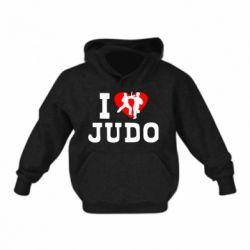 Детская толстовка I love Judo