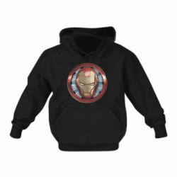 Дитяча толстовка Iron man helmet wood texture