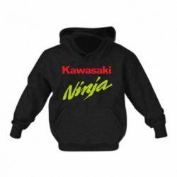 Детская толстовка на флисе Kawasaki Ninja