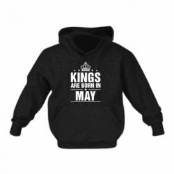 Детская толстовки Kings are born in May - FatLine