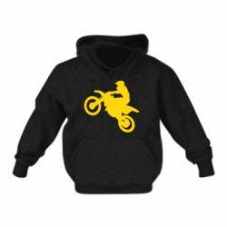 Детская толстовка на флисе Кроссовый мотоцикл