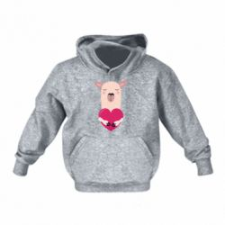 Дитяча толстовка Lama with heart