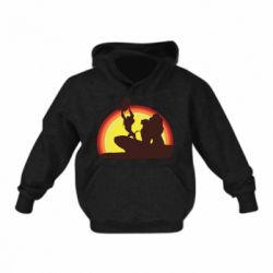 Детская толстовка на флисе Lion king silhouette