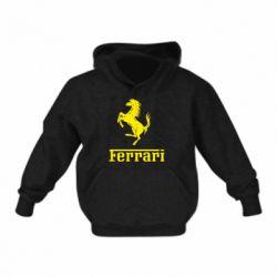 Детская толстовка логотип Ferrari