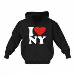 Дитяча толстовка Люблю Нью Йорк