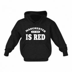 Дитяча толстовка Manchester is red
