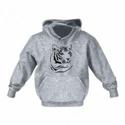 Детская толстовка Морда тигра