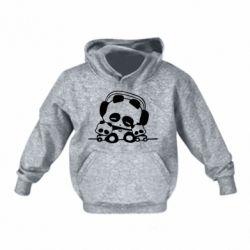 Детская толстовка Панда в наушниках