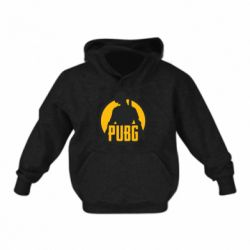 Детская толстовка PUBG logo and game hero