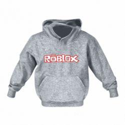 Детская толстовка Roblox logo