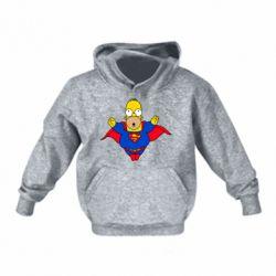 Детская толстовка Simpson superman