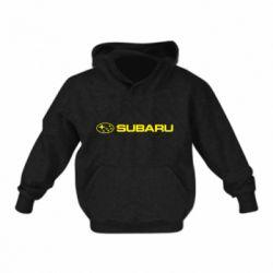 Детская толстовка на флисе Subaru logo