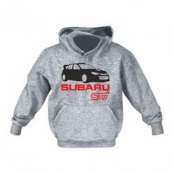 Детская толстовка на флисе Subaru STI