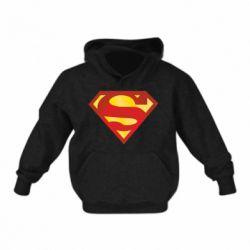 Детская толстовка на флисе Superman Classic