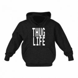 Детская толстовка thug life