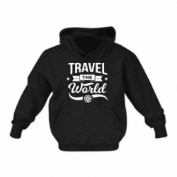 Дитяча толстовка Travel the world and compass