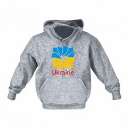 Детская толстовки Ukraine квадратний прапор - FatLine