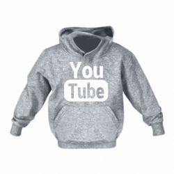 Дитяча толстовка Youtube vertical logo