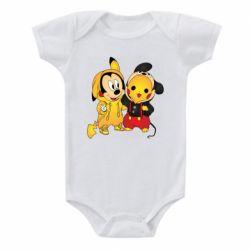 Детский бодик Mickey and Pikachu