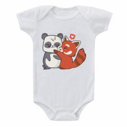 Дитячий бодік Panda and fire panda