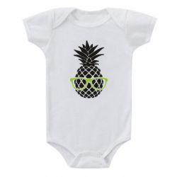 Детский бодик Pineapple with glasses