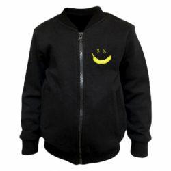 Детский бомбер Banana smile