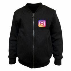 Дитячий бомбер Instagram Logo Gradient