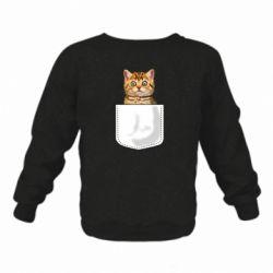 Детский реглан (свитшот) Cat in your pocket