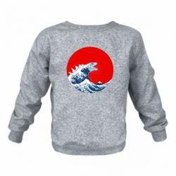 Дитячий реглан (світшот) Godzilla Wave