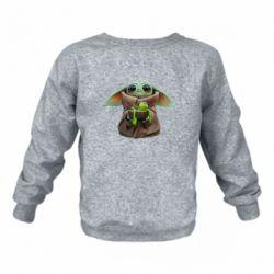 Дитячий реглан (світшот) Grogu and Kermit