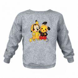 Детский реглан (свитшот) Mickey and Pikachu