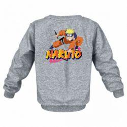 Дитячий реглан (світшот) Naruto with logo