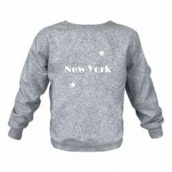 Детский реглан (свитшот) New York and stars