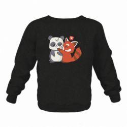 Дитячий реглан (світшот) Panda and fire panda