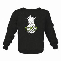 Детский реглан (свитшот) Pineapple with glasses