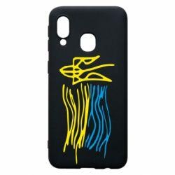 Чохол для Samsung A40 Дитячий малюнок прапор України
