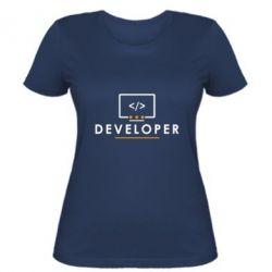 Женская футболка Developer