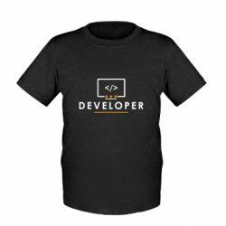 Детская футболка Developer